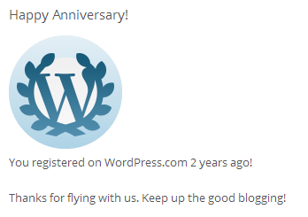 happy 2 year with wordpress