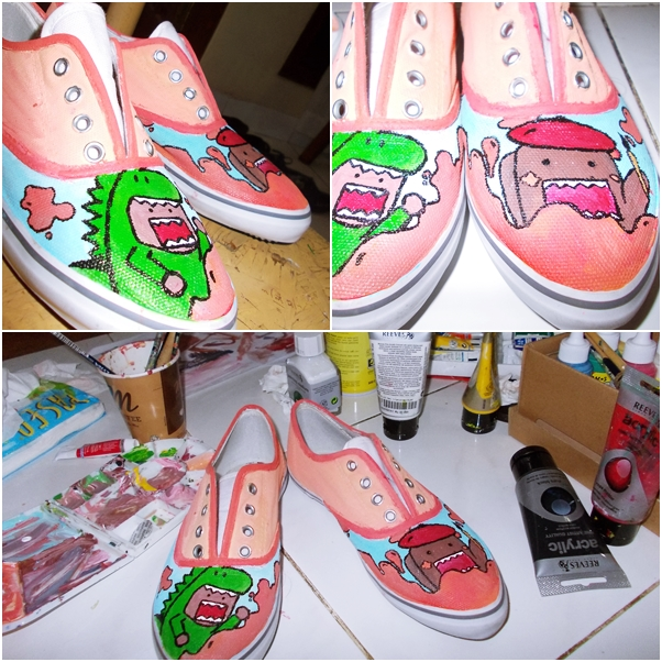 domo shoes painting