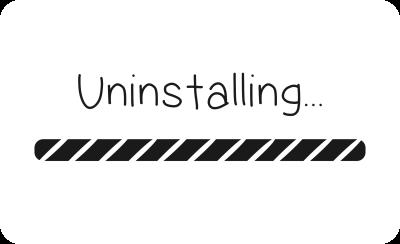 uninstalling