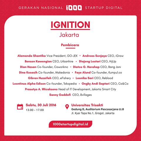 Ignition Jakarta 1000 Startup Digital